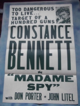 Madame Spy, Original Movie Poster, Constance Bennett, '42